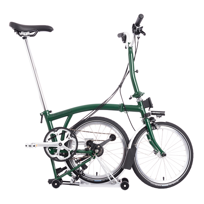 Brompton M6R Racing Green - Battery lighting Folding Bike ...